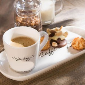Filiżanka z talerzykiem Caffè Doppio Riviera Maison
