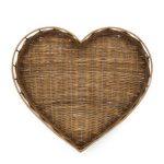 Taca rattanowa Rustic Heart Riviera Maison